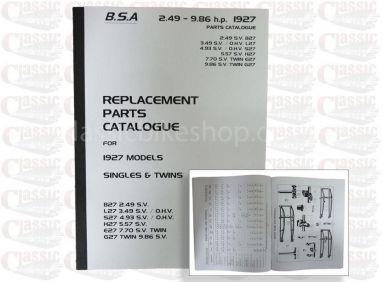 BSA 1927 Parts Book - All models