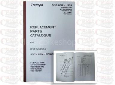 Triumph 1955 p/u Parts Book