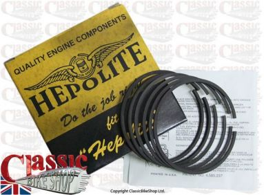 Hepolite Piston Ring Set Triumph 650cc T120 R11050 STD