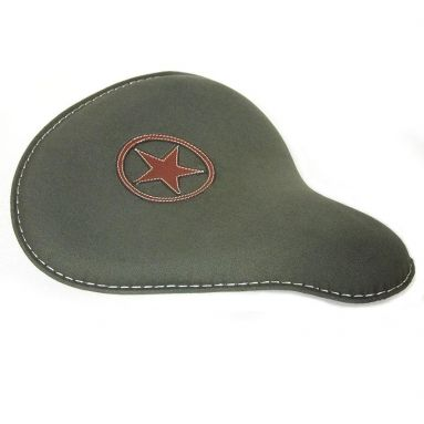 Harley Canvas Bobber Deep Dish Seat - Military Star