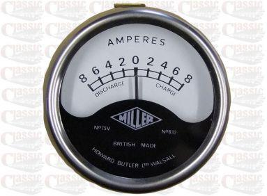 6 Volt Miller Ammeter 2'' Inch Aperture