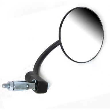 Handlebar End Mirror Black Round