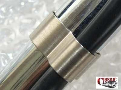 Stainless steel universal handlebar clips