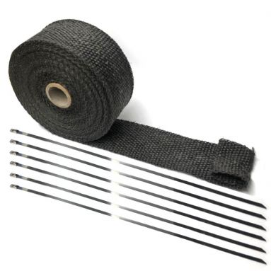 Motorcycle Exhaust Wrap in Black