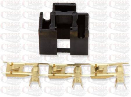 Genuine Wipac Black Halogen bulb connector block for H4 bulb.