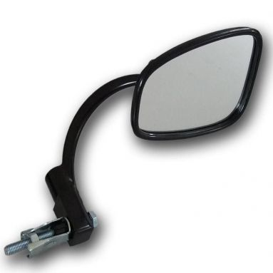 Handlebar End Mirror/ Stadium Style Black