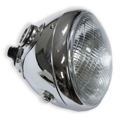 Lucas 7 inch chrome headlight