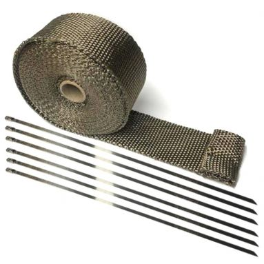Motorcycle Exhaust Wrap in Titanium