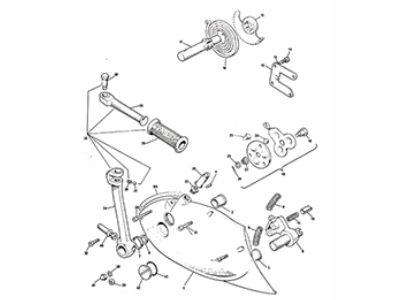 Triumph T140 Gearbox Outer parts spares