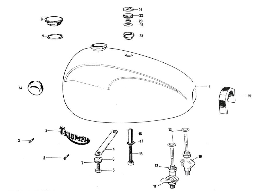 Triumph T140 Petrol Tank