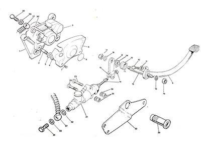 Triumph T140 750ccc rear brake parts