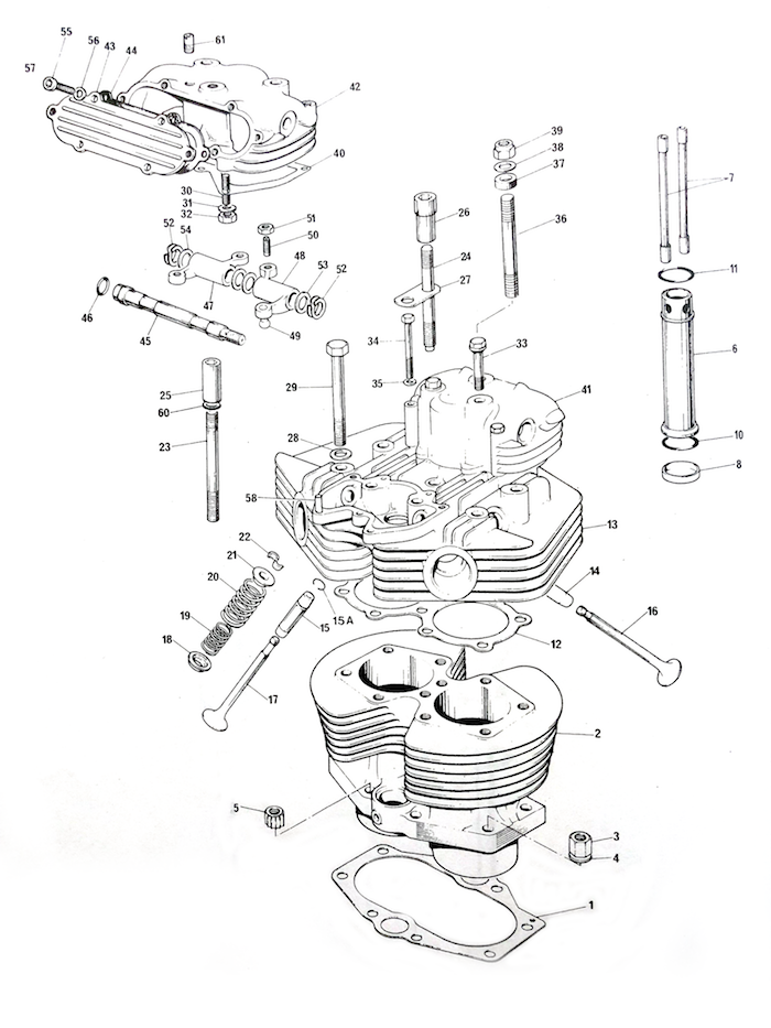 Triumph T140 Cylinder Block and Head